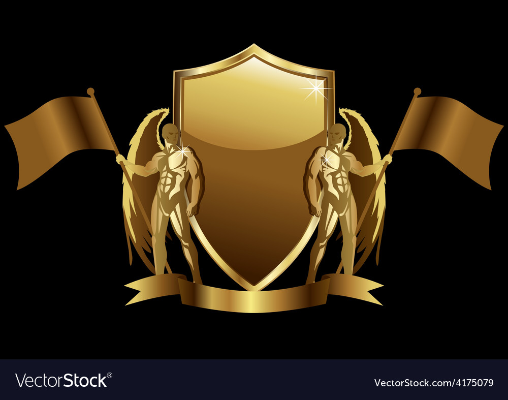 Shield emblem vector | Price: 1 Credit (USD $1)