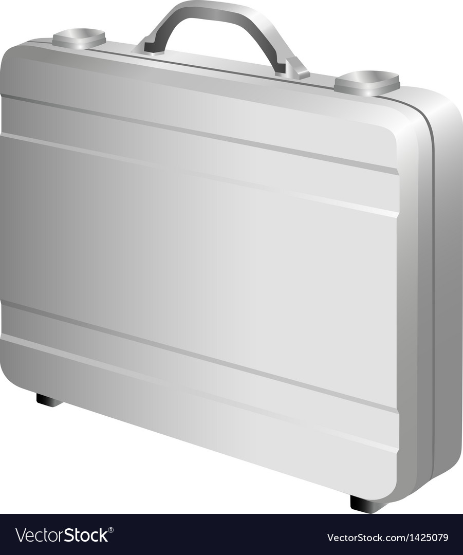 Silver briefcase vector | Price: 1 Credit (USD $1)
