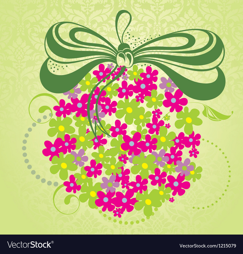 Spring background with flowers vector | Price: 1 Credit (USD $1)