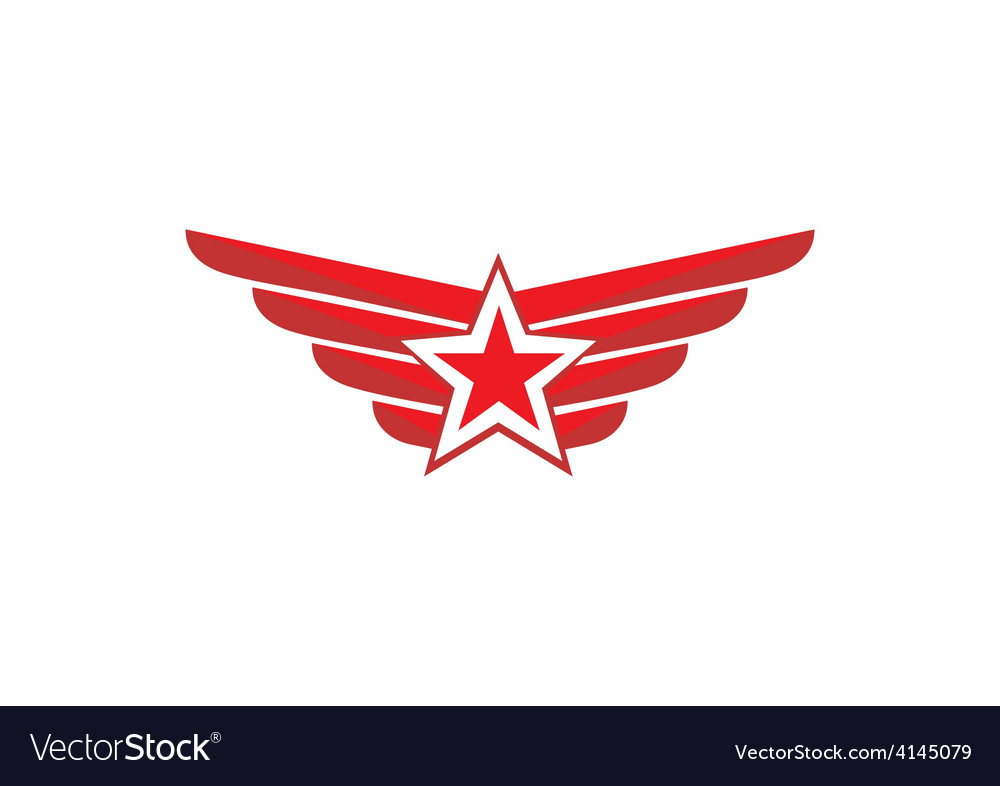 Star wing emblem logo vector | Price: 1 Credit (USD $1)