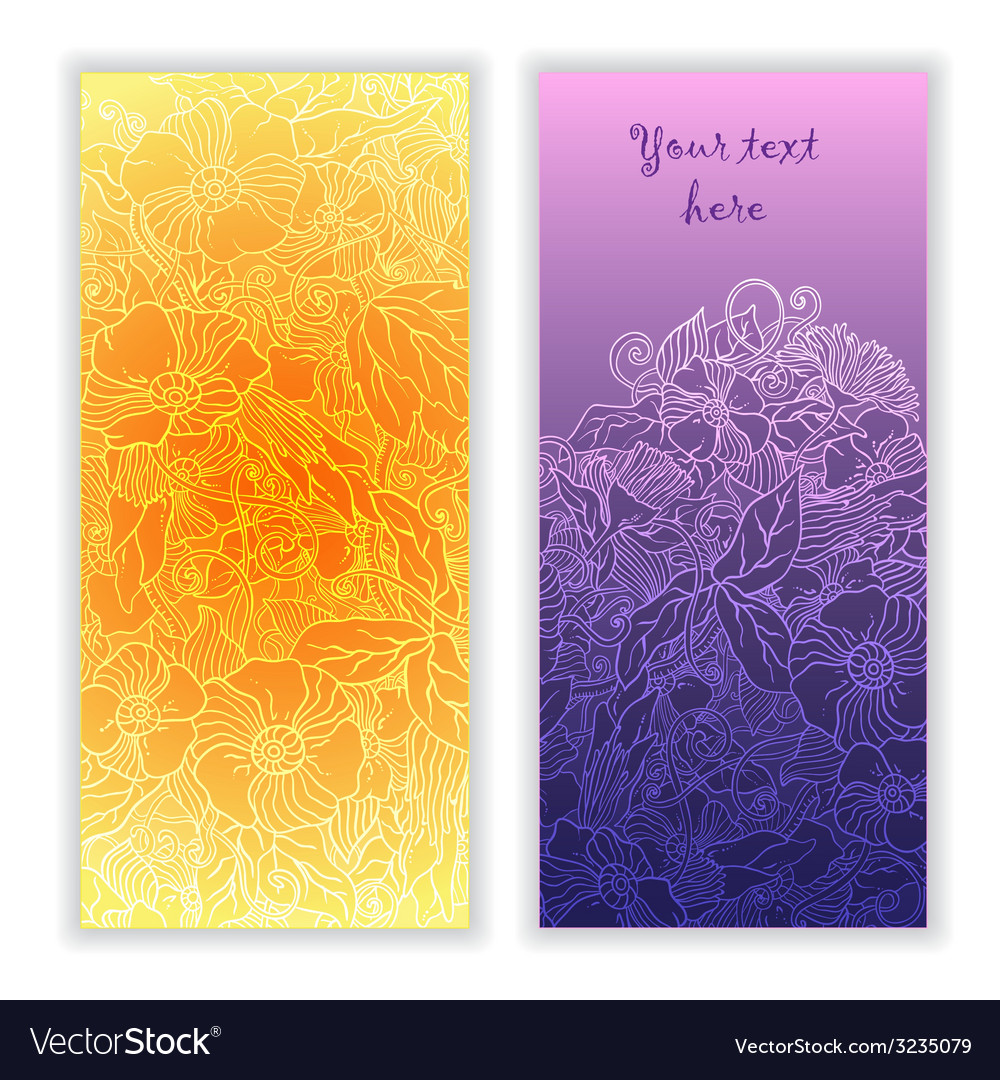 Unique abstract hand drawn pattern cards vector | Price: 1 Credit (USD $1)
