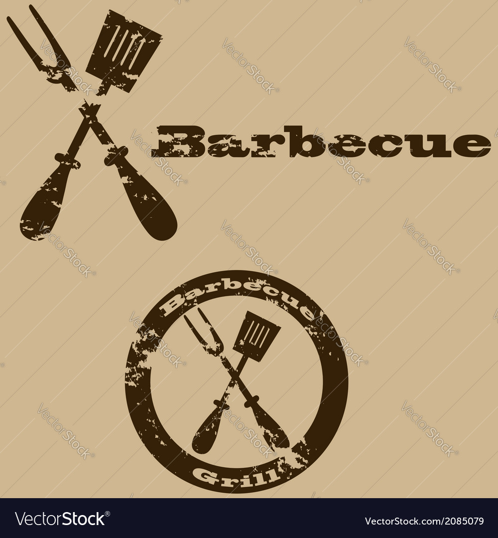 Vintage barbecue vector | Price: 1 Credit (USD $1)