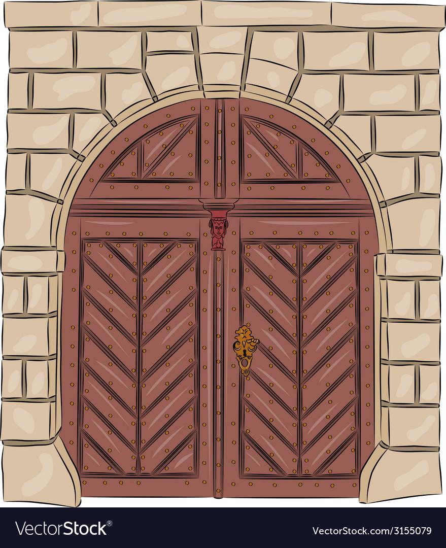 Vintage doors vector | Price: 1 Credit (USD $1)