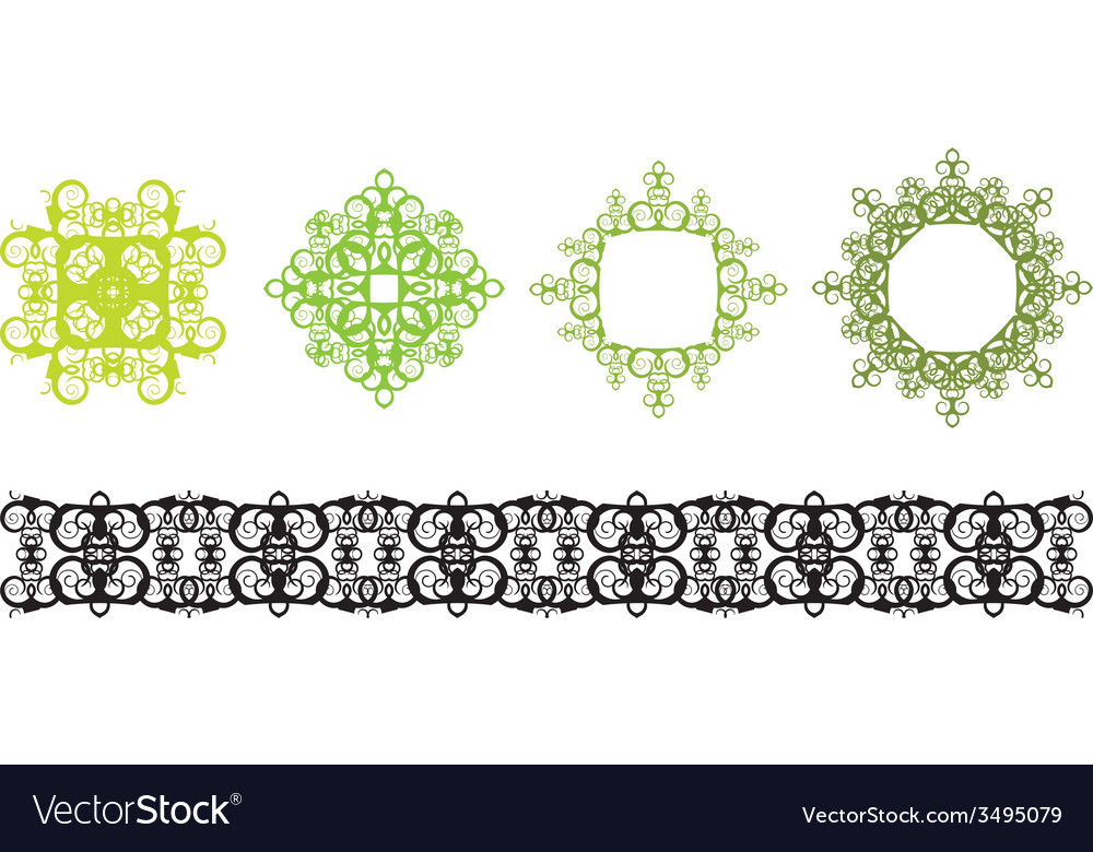 Vintage pattern vector | Price: 1 Credit (USD $1)