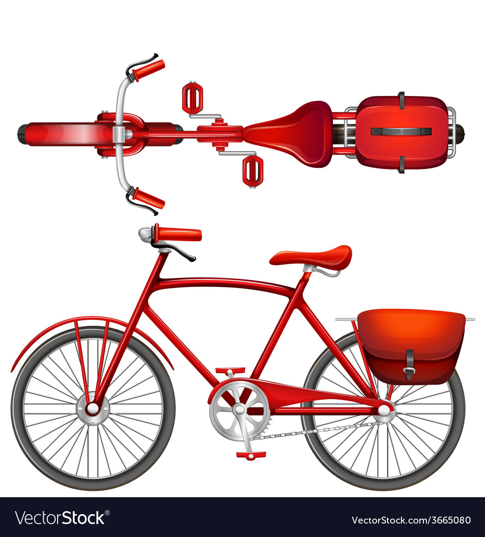 A red bicycle vector | Price: 1 Credit (USD $1)