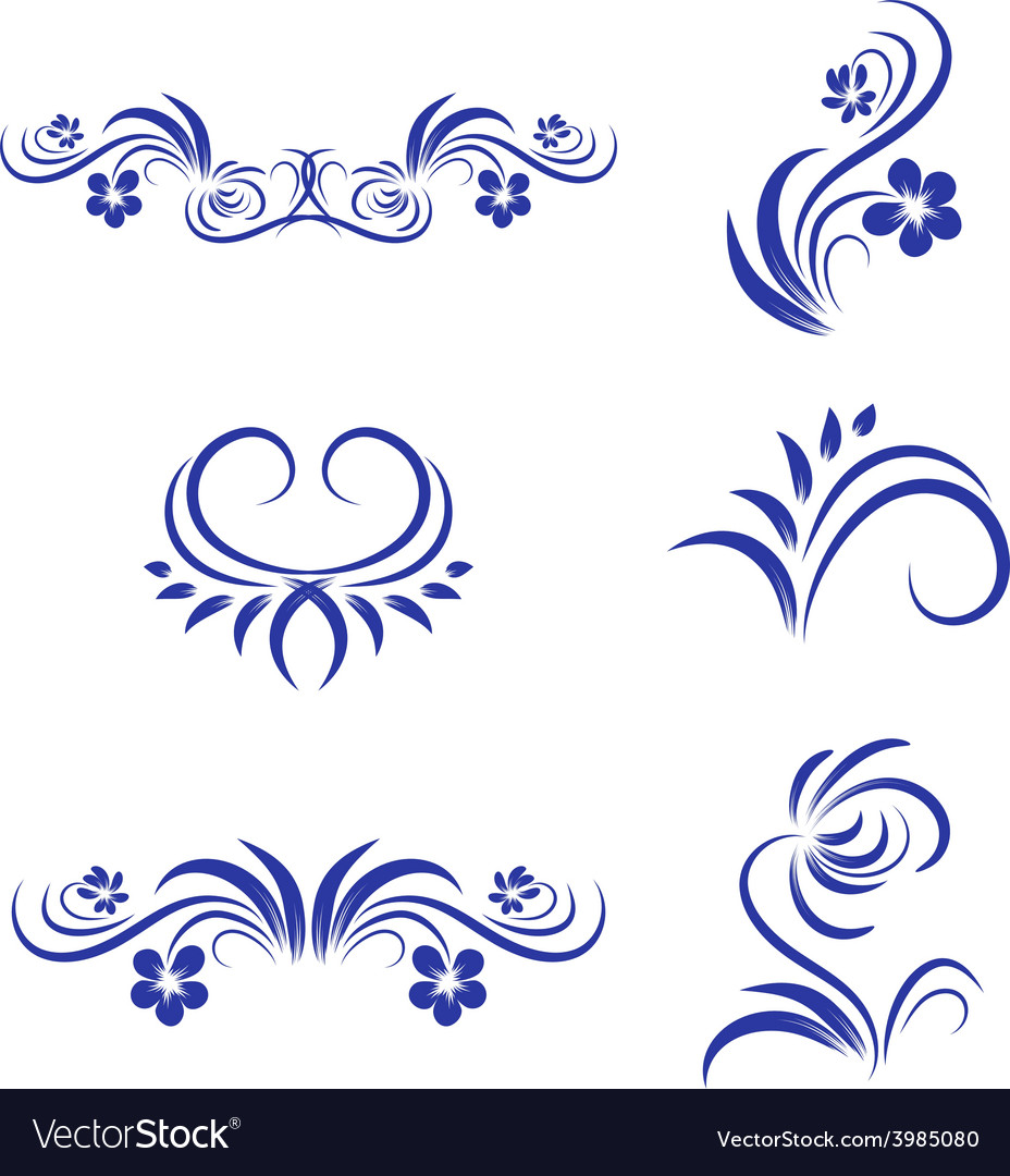 Abstract floral decorative element vector | Price: 1 Credit (USD $1)