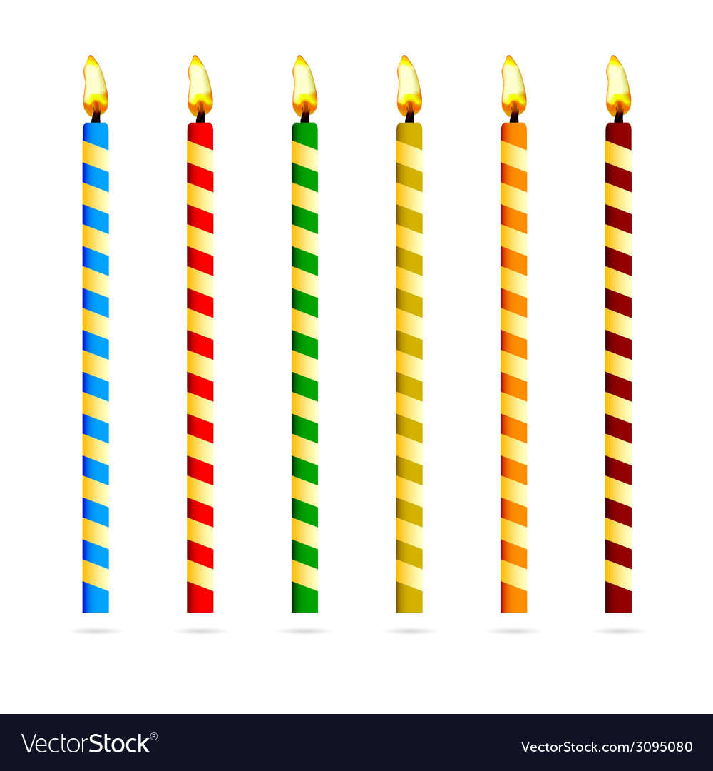 Birthday candles for cake vector | Price: 1 Credit (USD $1)
