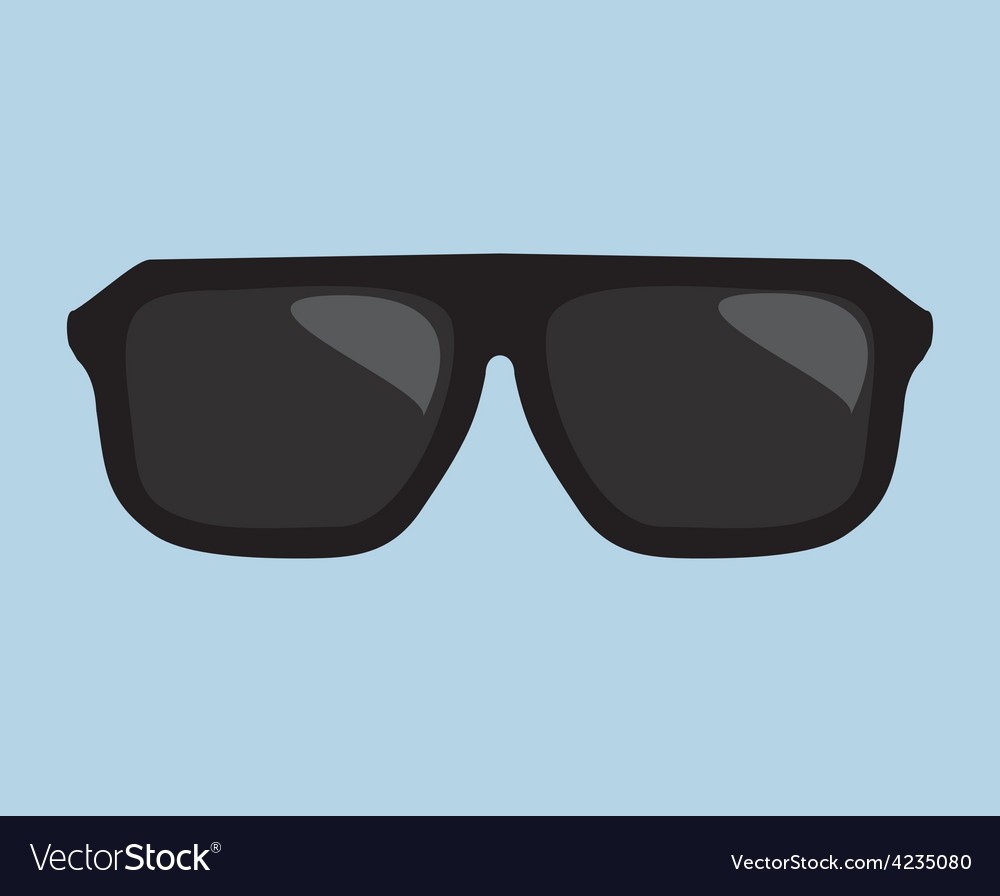 Black hipster sunglasses vector | Price: 1 Credit (USD $1)