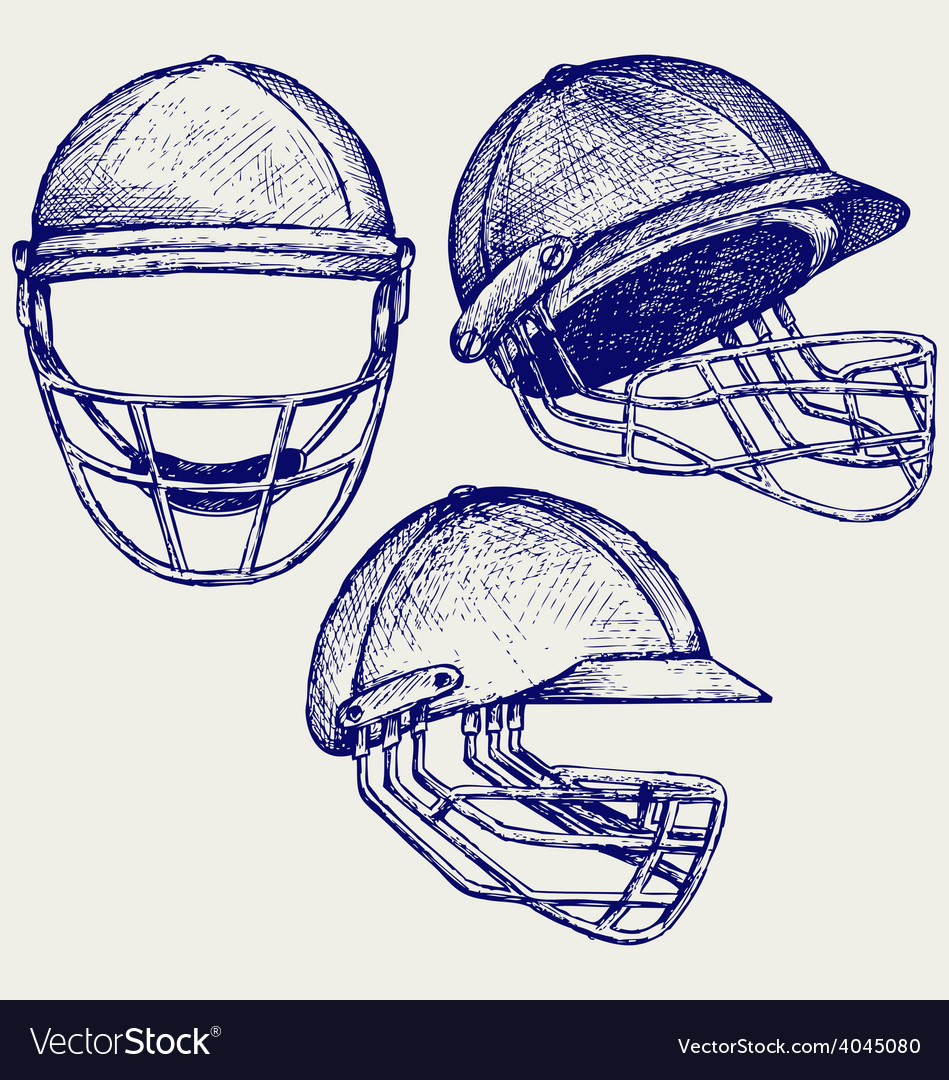 Cricket helmet vector | Price: 1 Credit (USD $1)