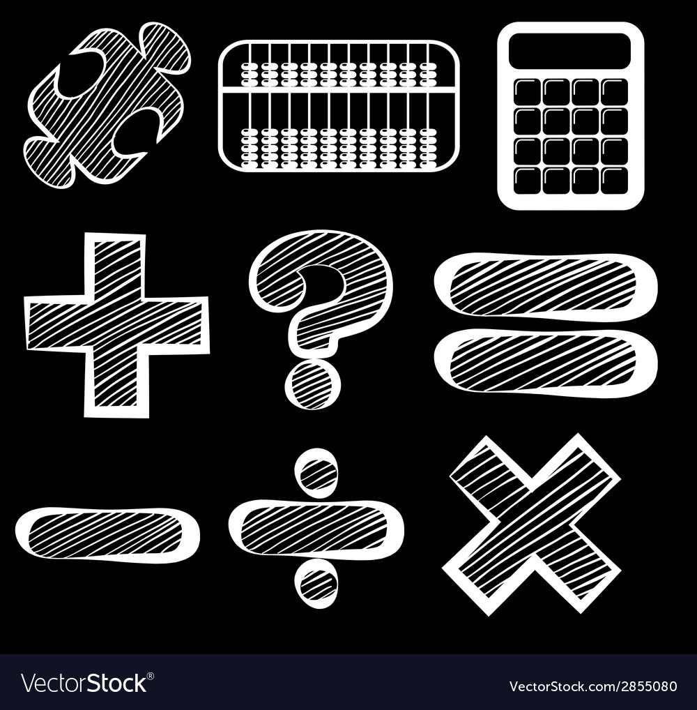 Different mathematical symbols vector | Price: 1 Credit (USD $1)