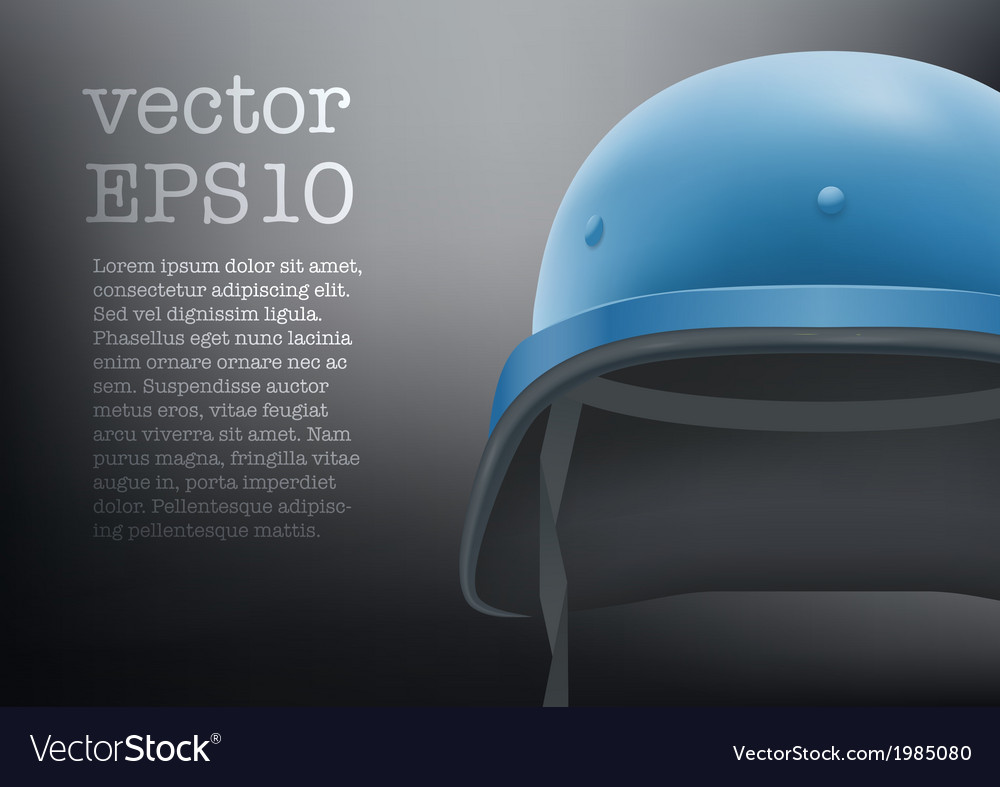 Helmet of united nations background vector | Price: 1 Credit (USD $1)