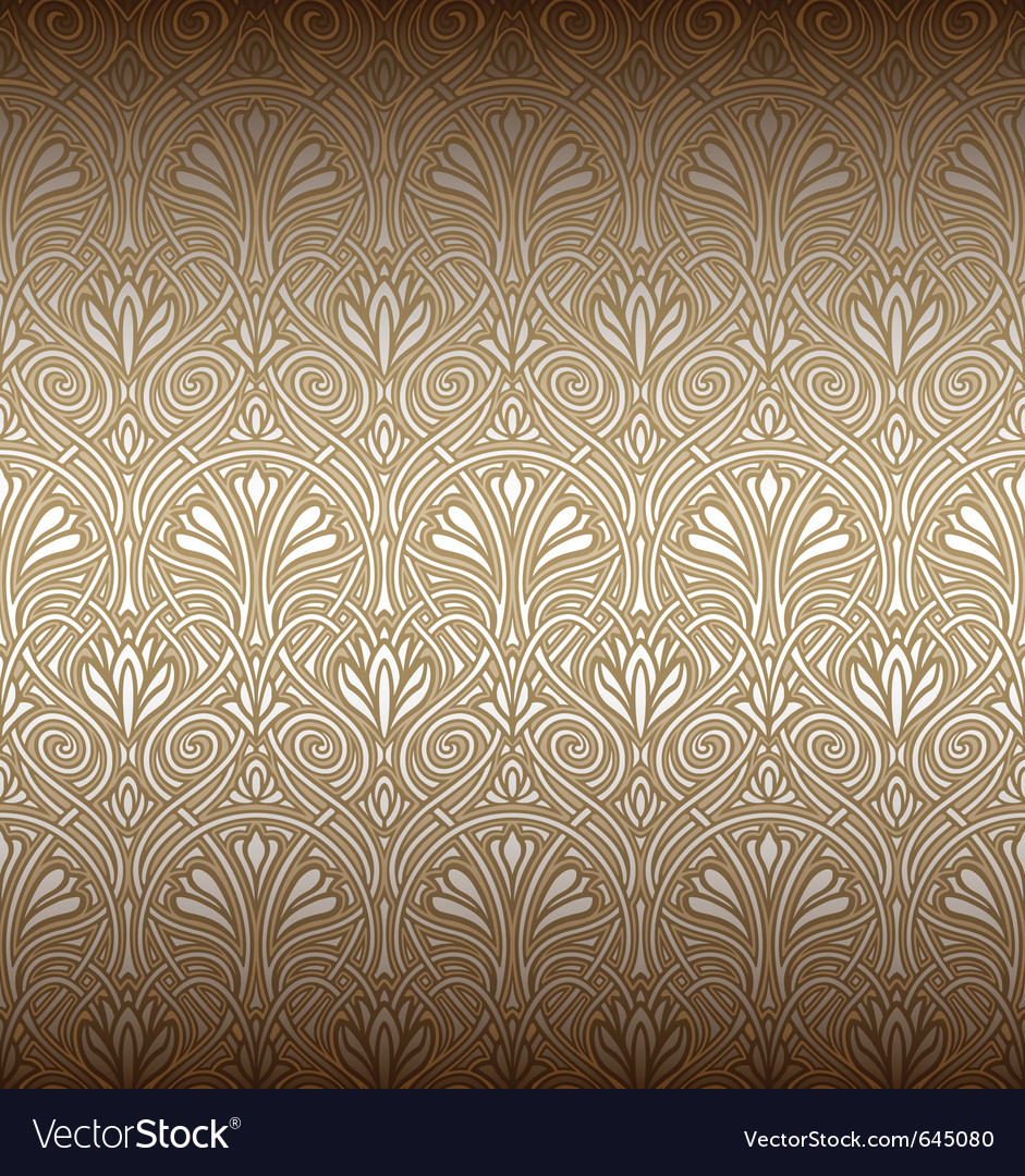Seamless art nouveau pattern vector | Price: 1 Credit (USD $1)