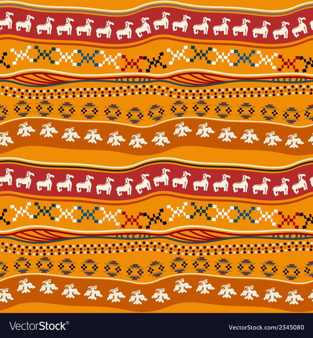 Seamless pattern with mexican texture vector | Price: 1 Credit (USD $1)