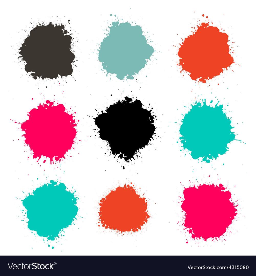 Splashes - splash color set isolated on white vector | Price: 1 Credit (USD $1)