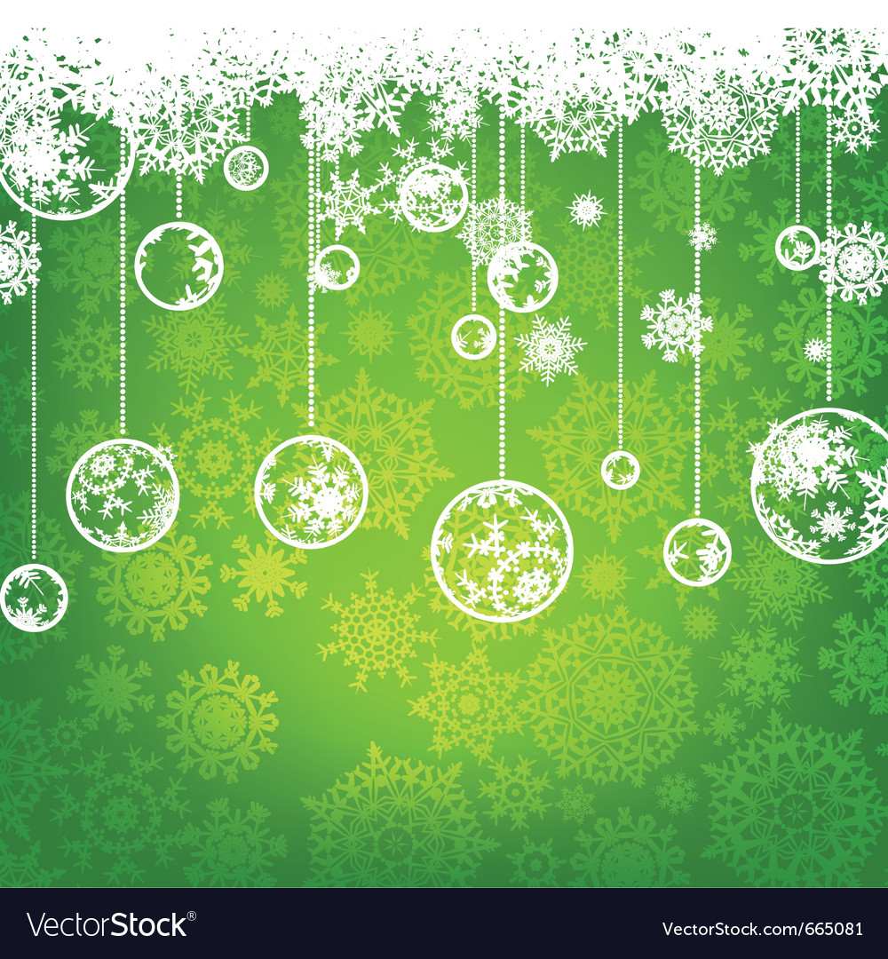 Beautiful green christmas card vector | Price: 1 Credit (USD $1)