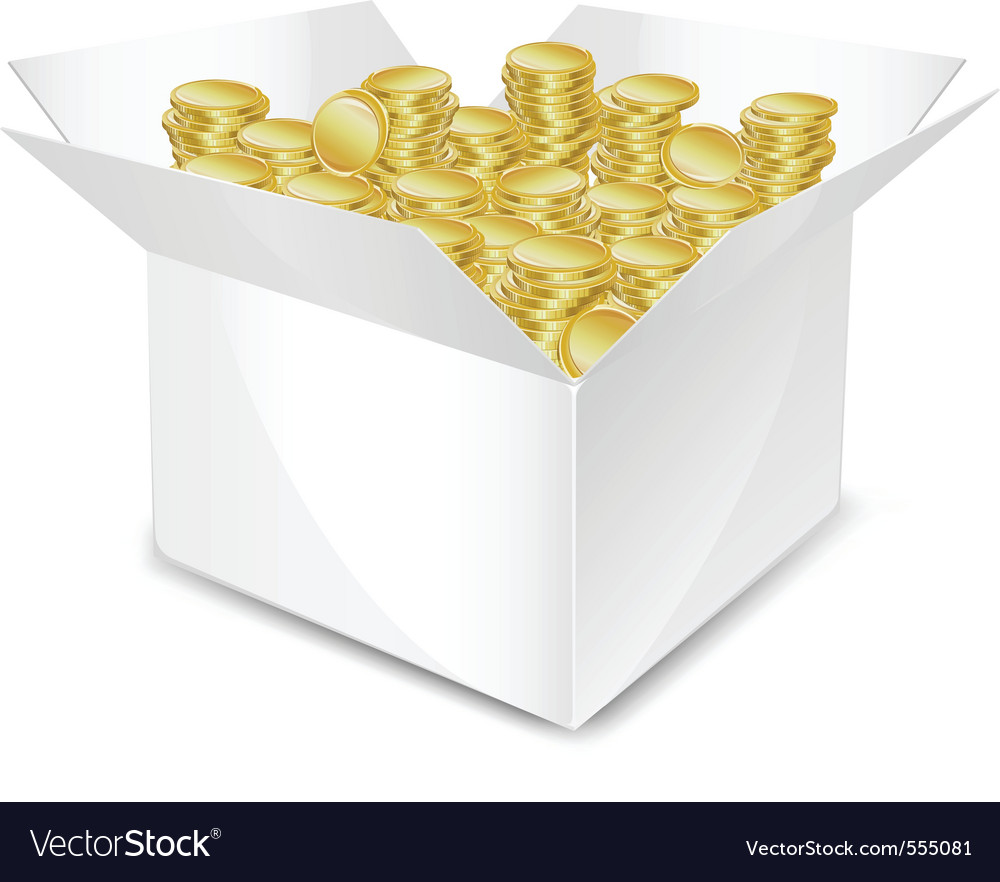 Coin box vector | Price: 1 Credit (USD $1)