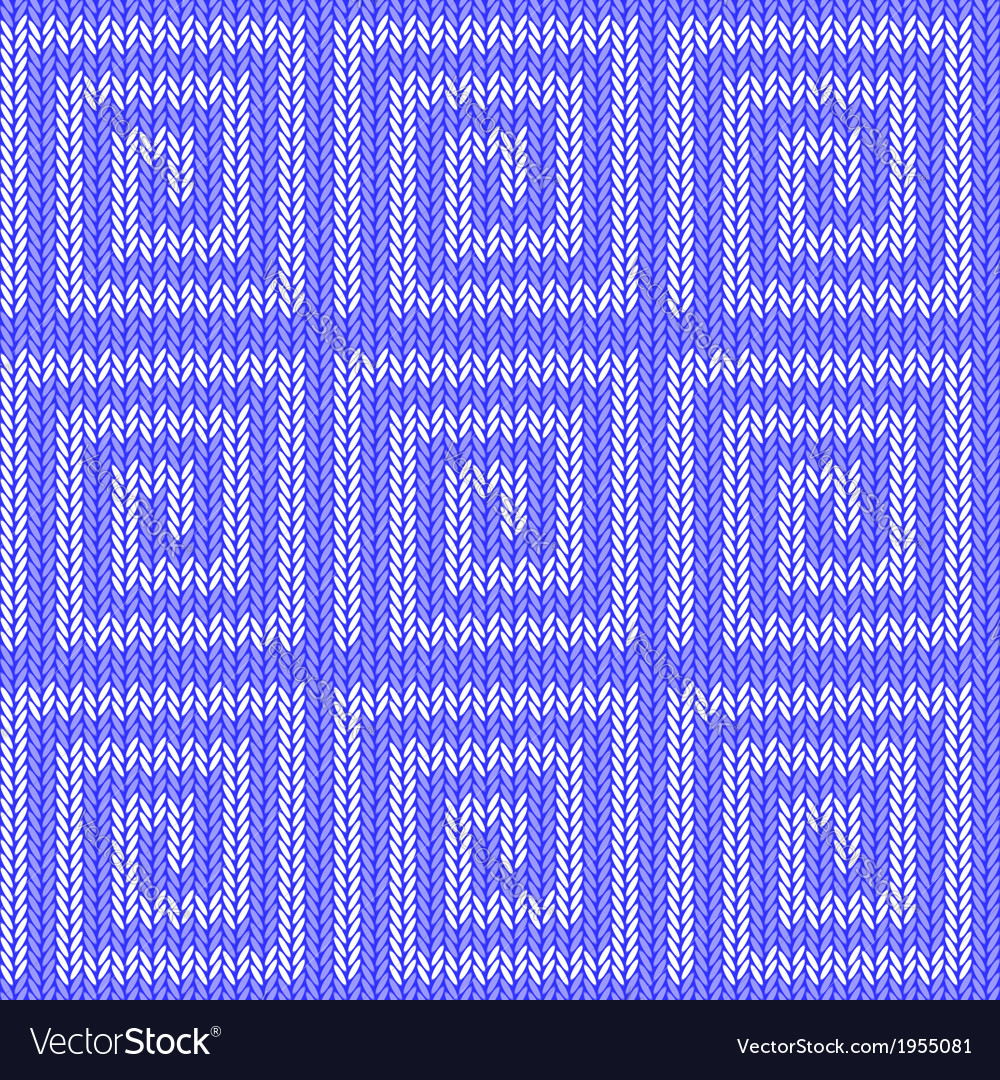 Design seamless blue labyrinth knitted pattern vector | Price: 1 Credit (USD $1)