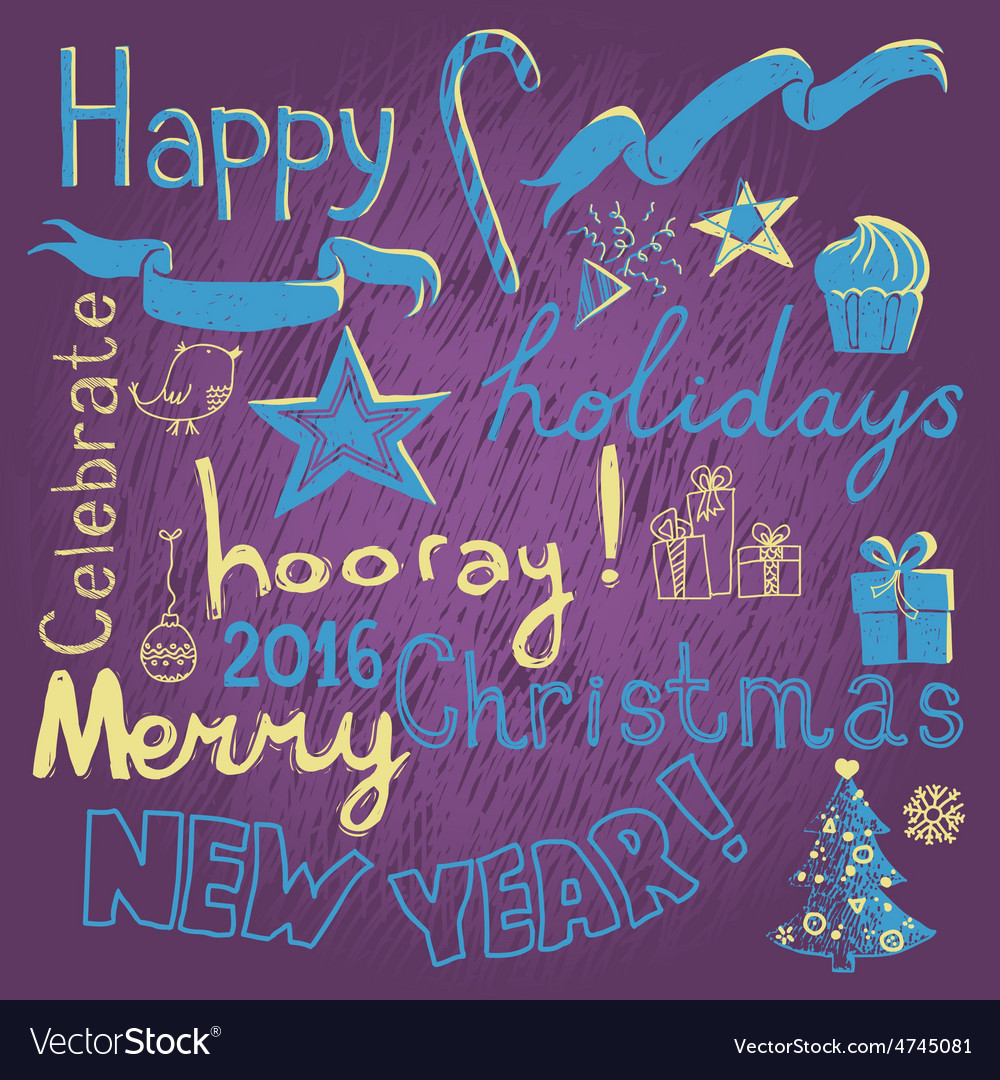 Holiday doodle vector | Price: 1 Credit (USD $1)