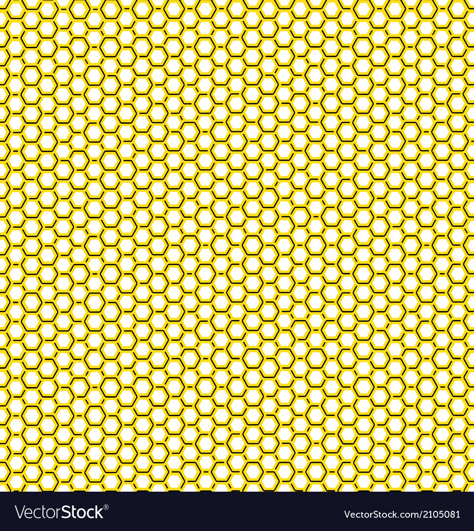 Honeycomb yellow pattern vector | Price: 1 Credit (USD $1)