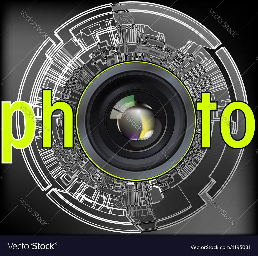 Professional photo lens vector | Price: 1 Credit (USD $1)