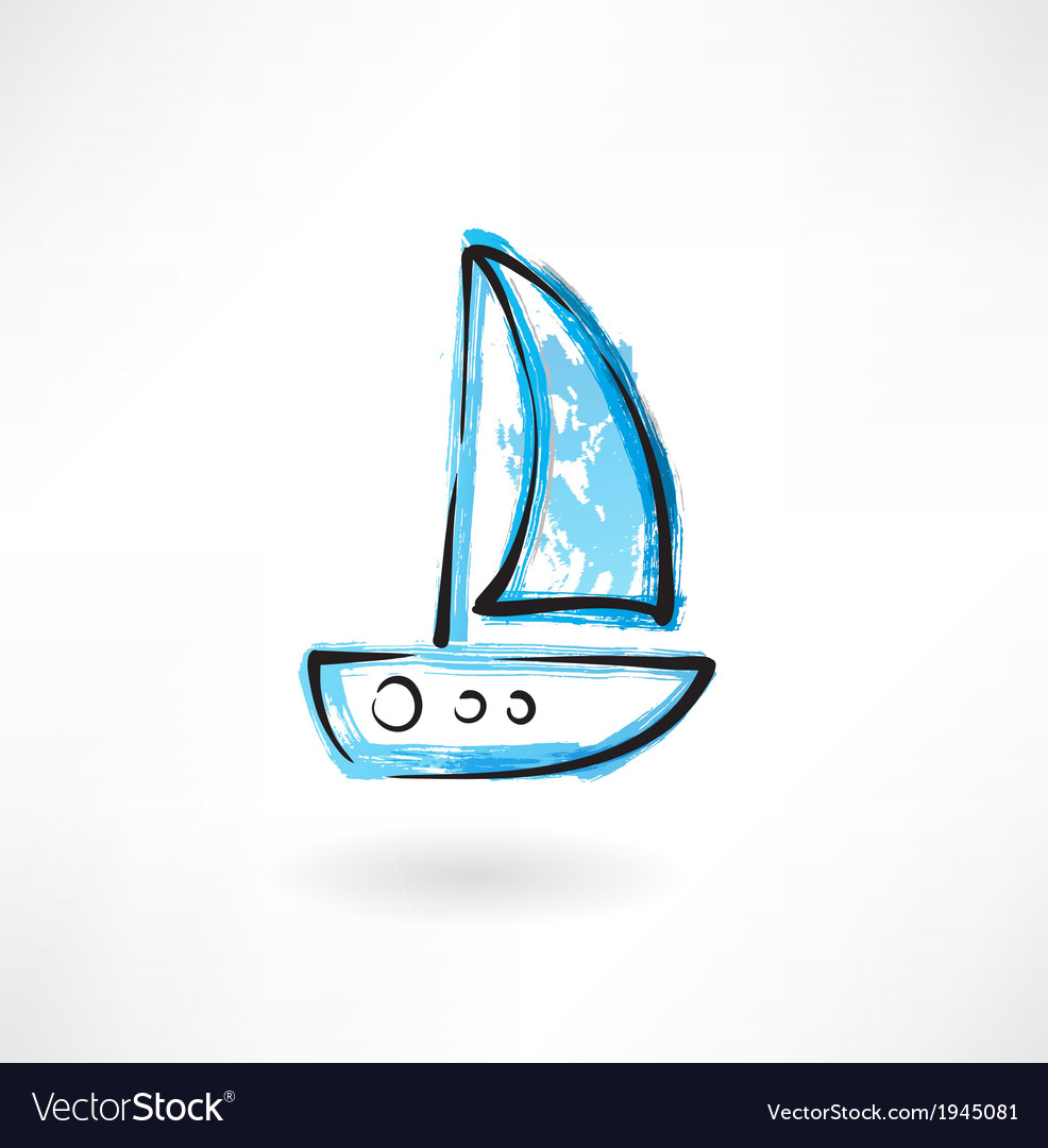 Sailfish grunge icon vector | Price: 1 Credit (USD $1)