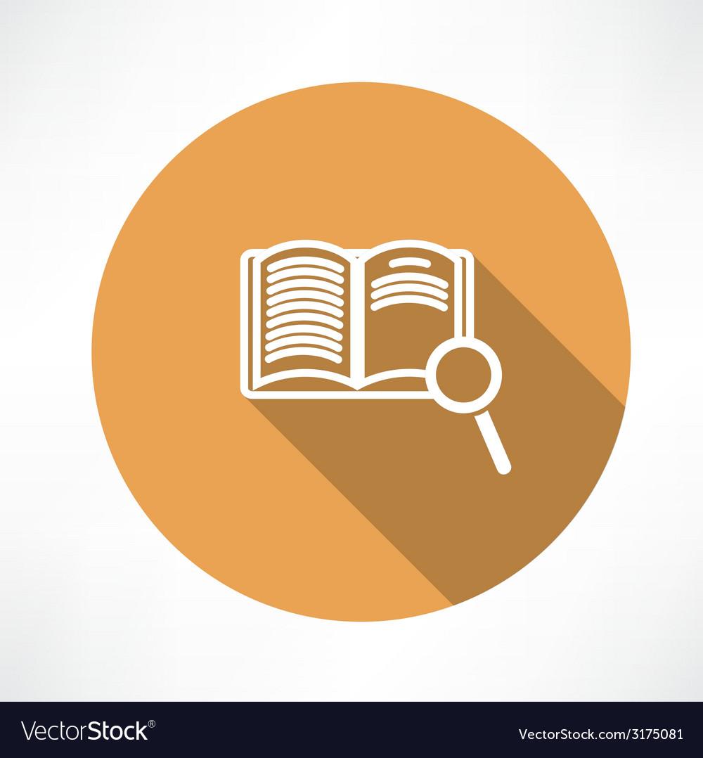Sear the book icon vector | Price: 1 Credit (USD $1)