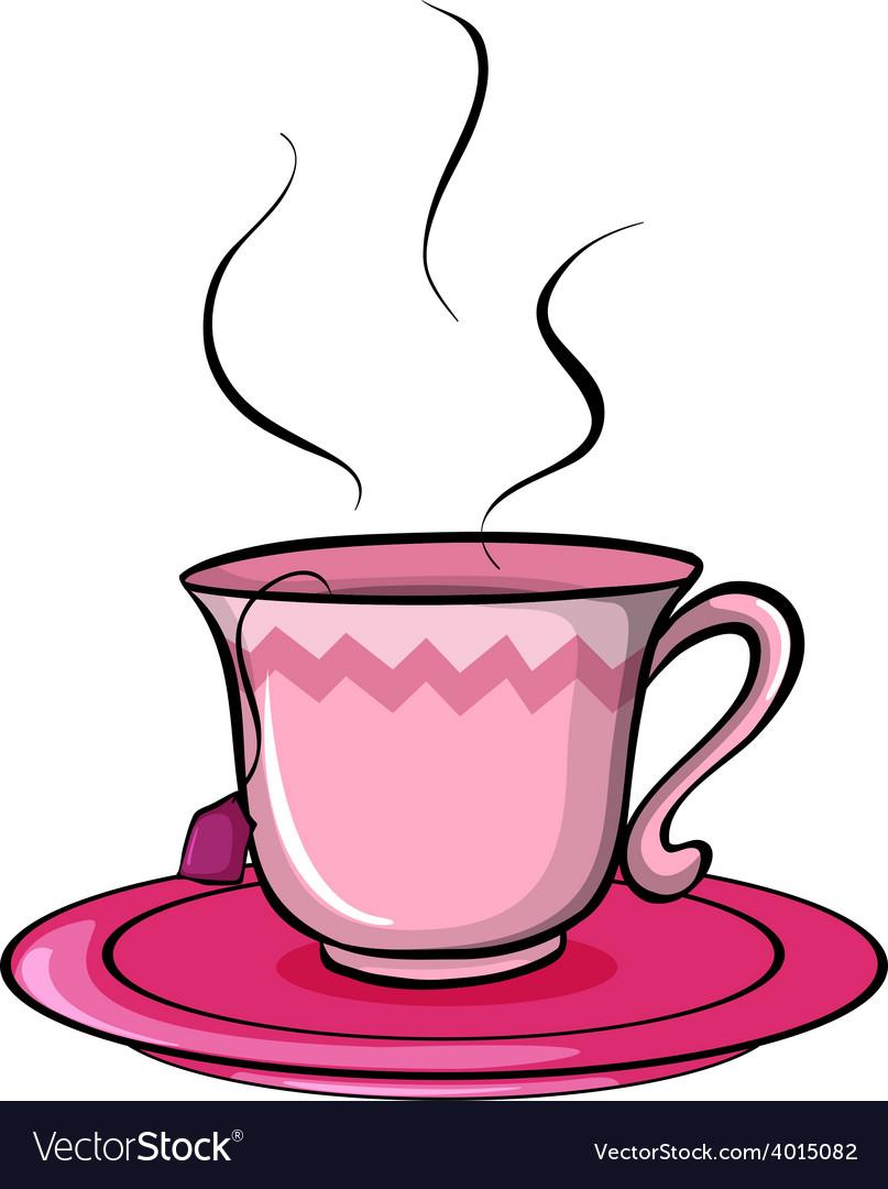 A cup of tea vector | Price: 3 Credit (USD $3)