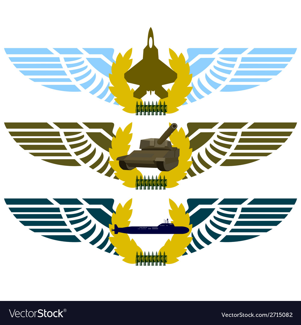 Army badges-4 vector | Price: 1 Credit (USD $1)