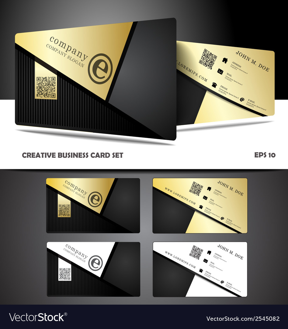 Creative and modern business card design vector | Price: 1 Credit (USD $1)