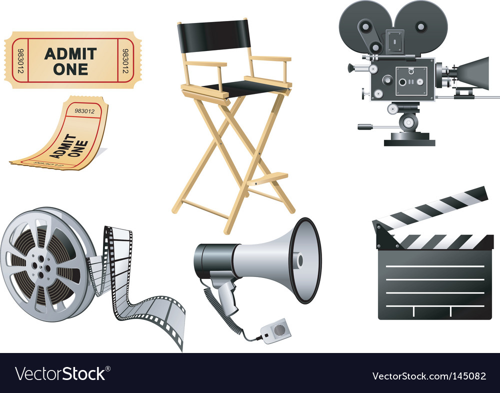 Film industry elements vector