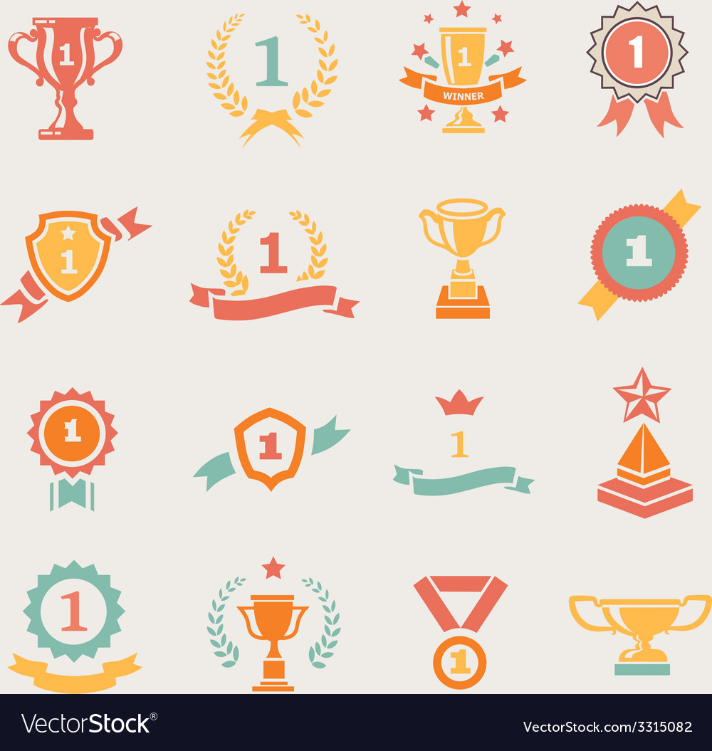 First place badges and winner ribbons vector | Price: 1 Credit (USD $1)