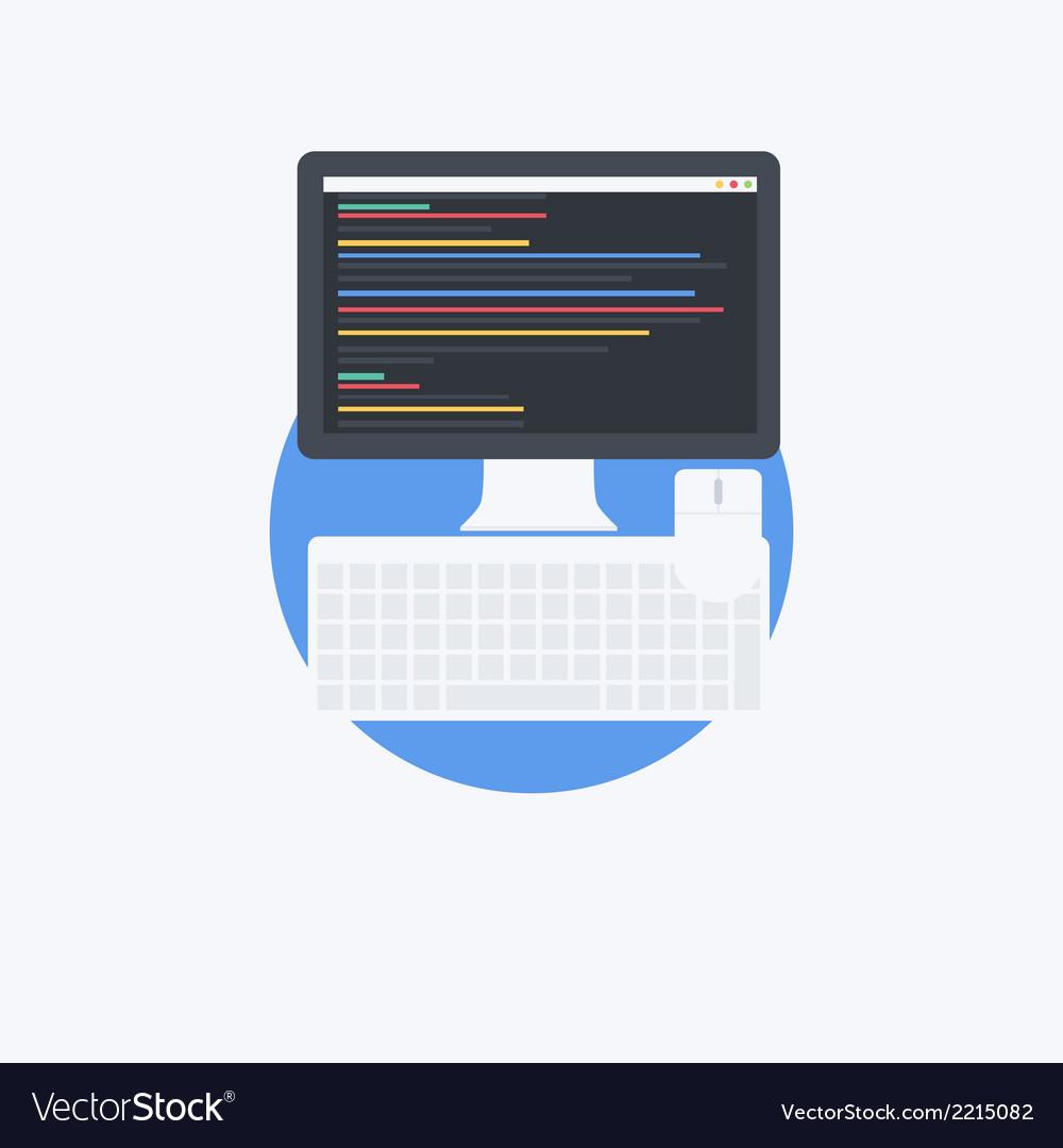 Flat programmer vector | Price: 1 Credit (USD $1)