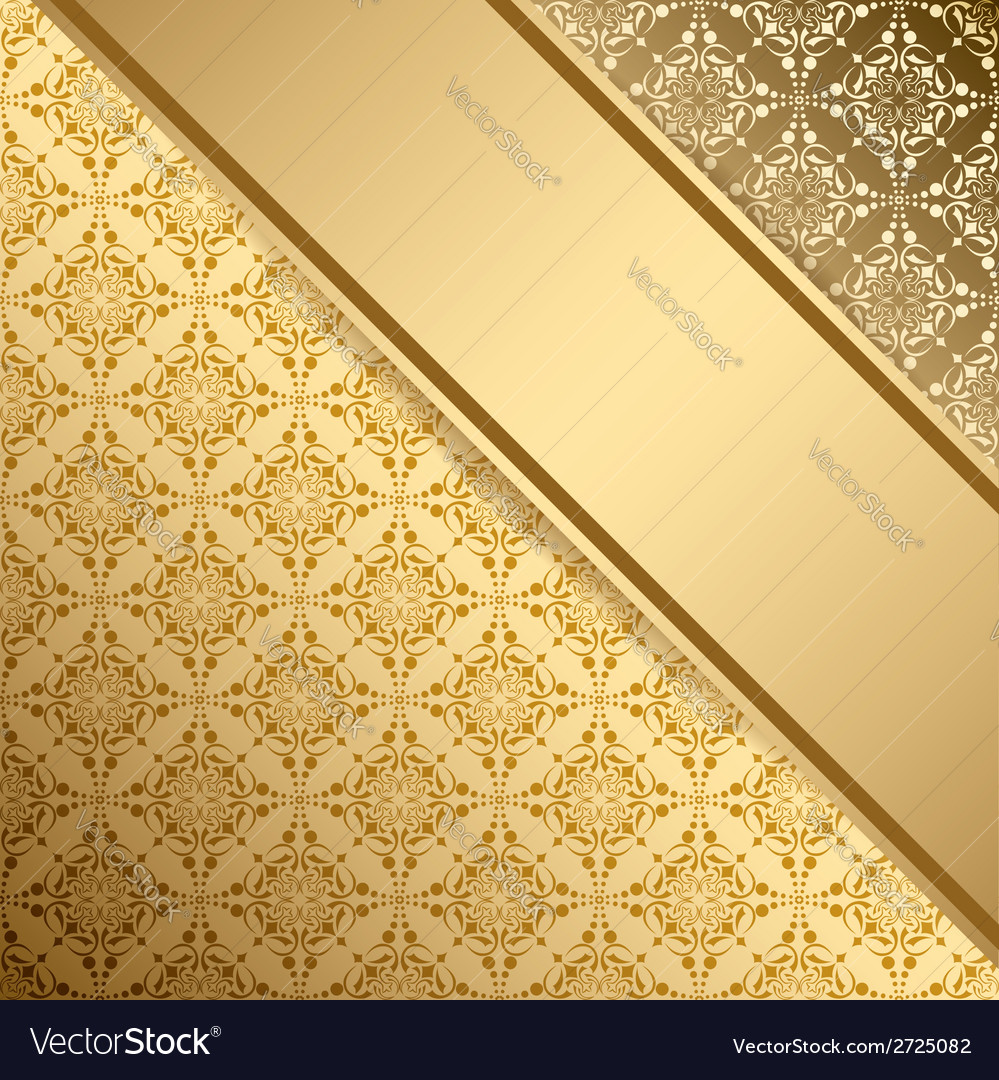 Golden vintage background with gradient vector | Price: 1 Credit (USD $1)