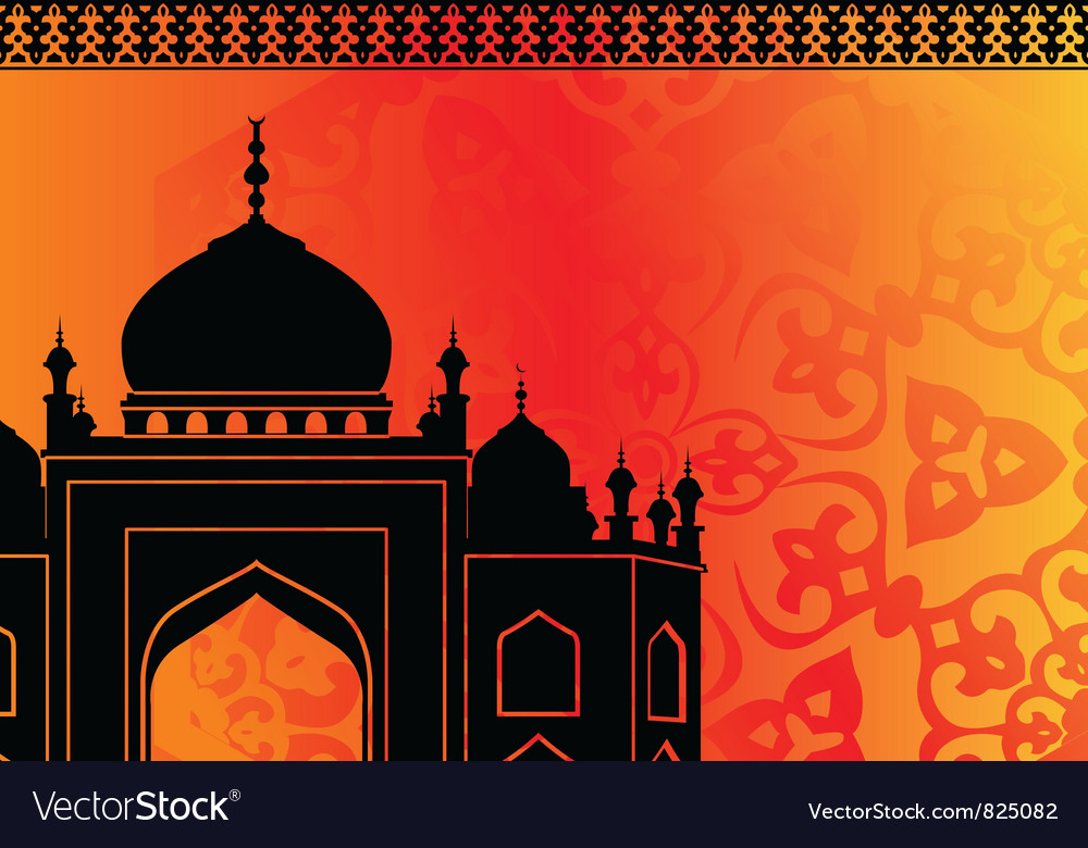 Islamic mosque vector | Price: 1 Credit (USD $1)