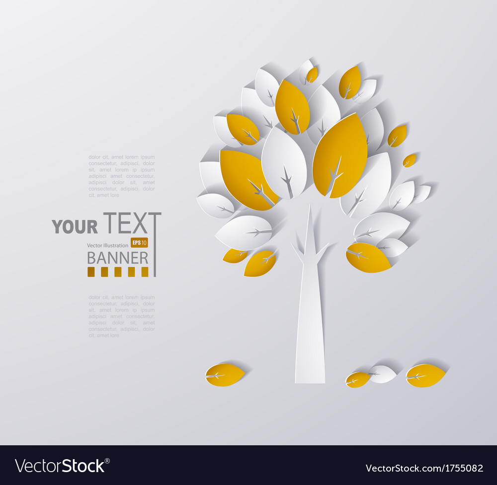 Paper tree vector | Price: 1 Credit (USD $1)