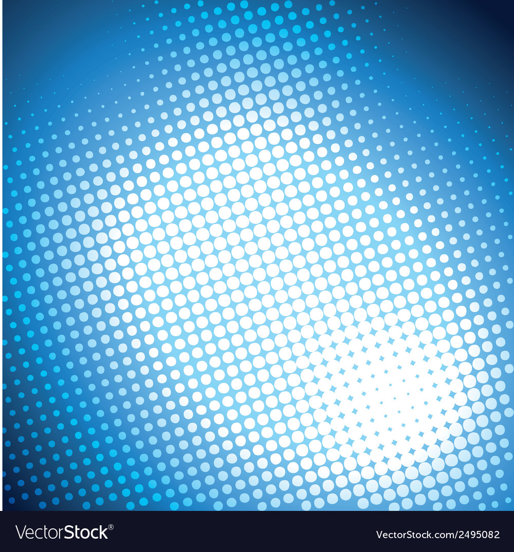 Shiny blue halftone background vector | Price: 1 Credit (USD $1)