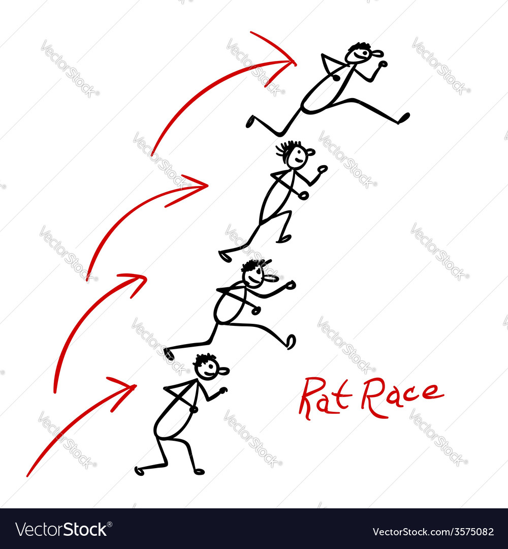 Sketch with people running over each other vector | Price: 1 Credit (USD $1)