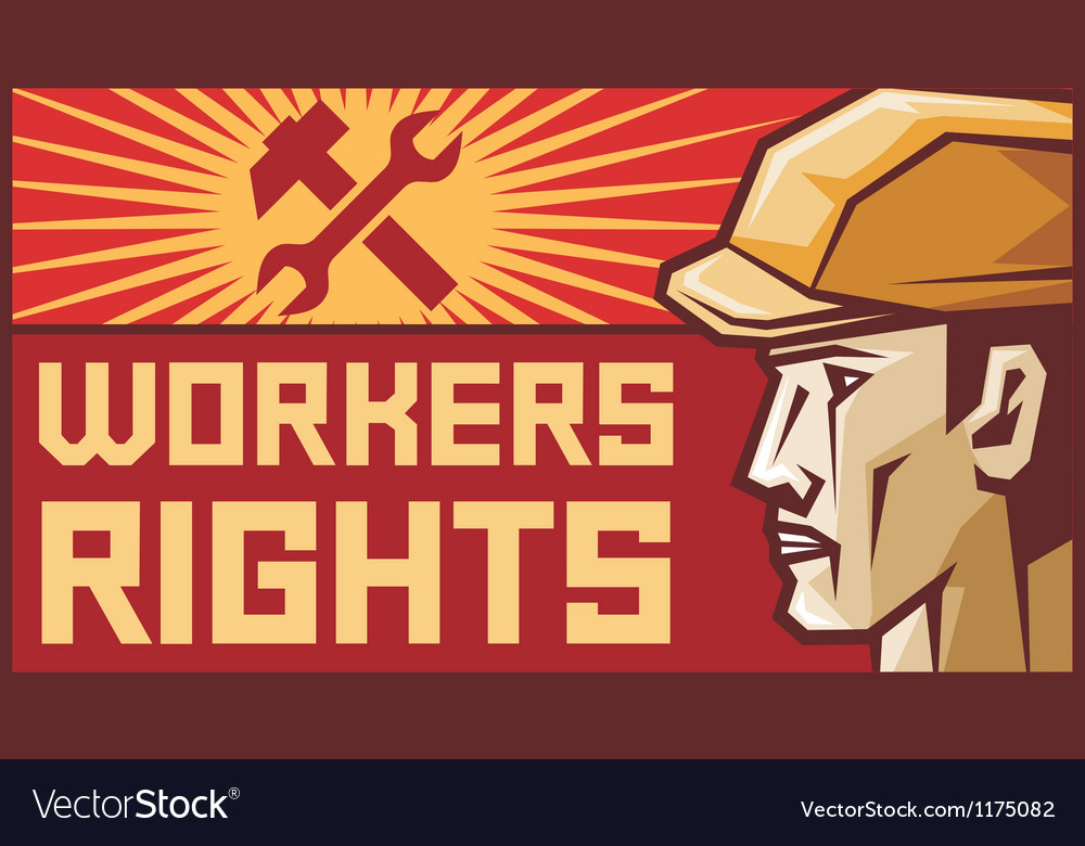 Workers rights poster vector | Price: 1 Credit (USD $1)