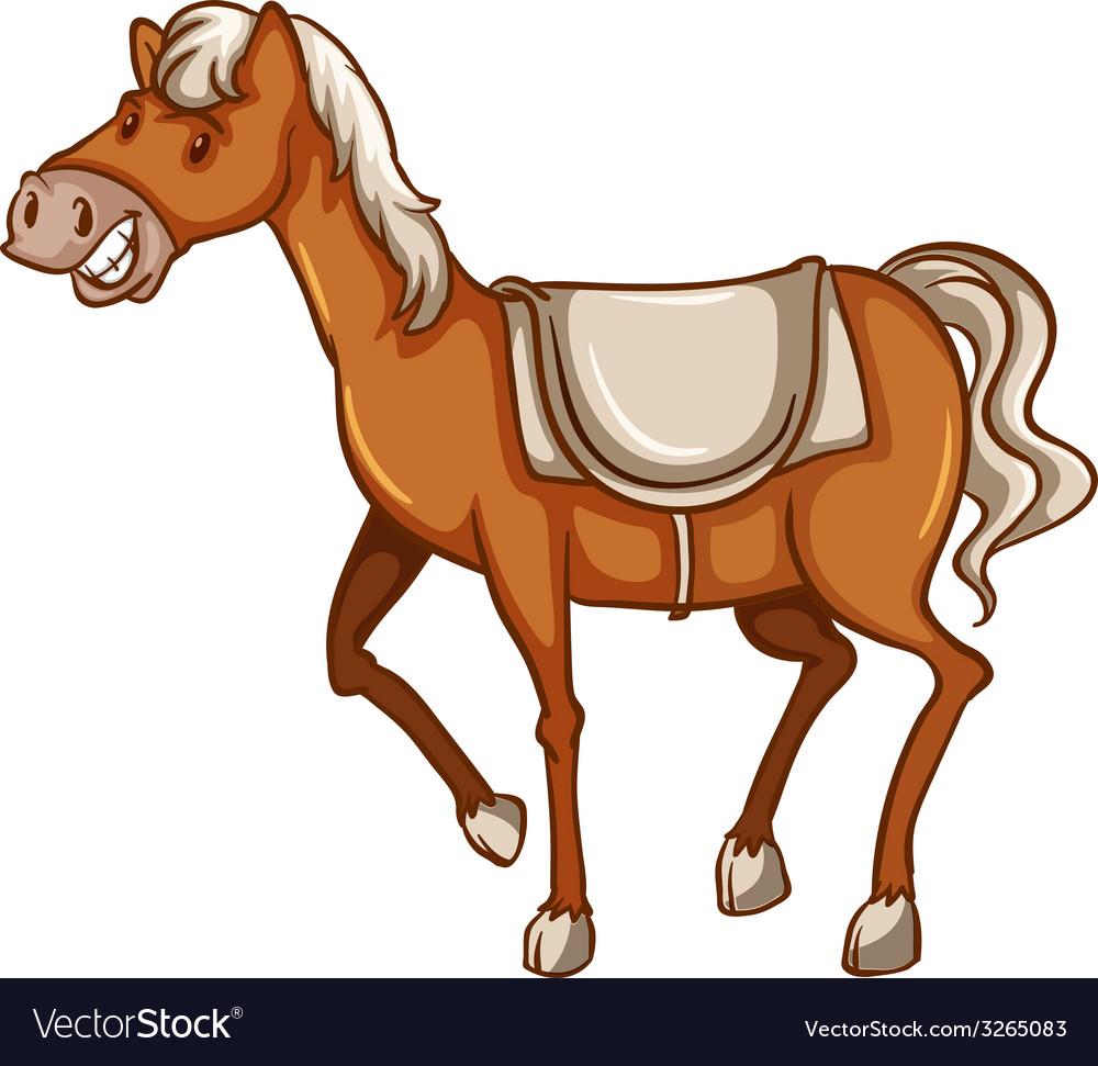 A cowboys horse vector | Price: 1 Credit (USD $1)