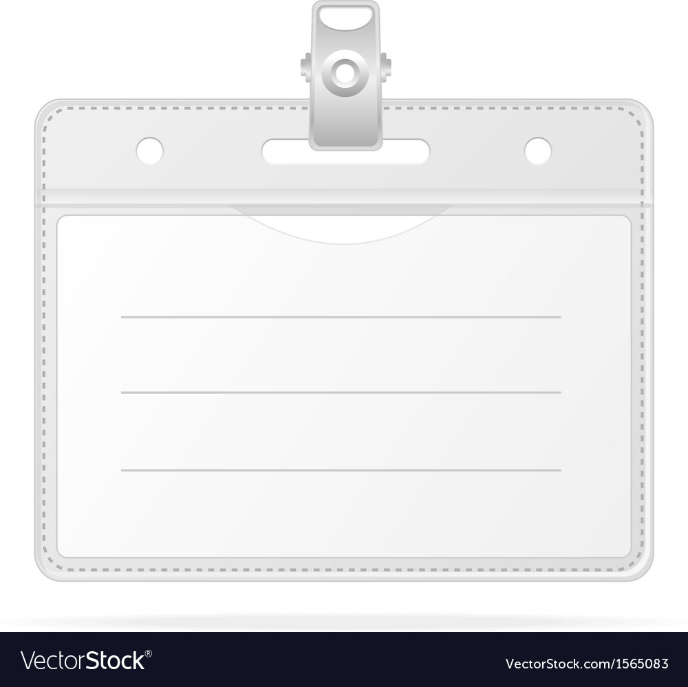Blank id identification card  badge isolated vector | Price: 1 Credit (USD $1)
