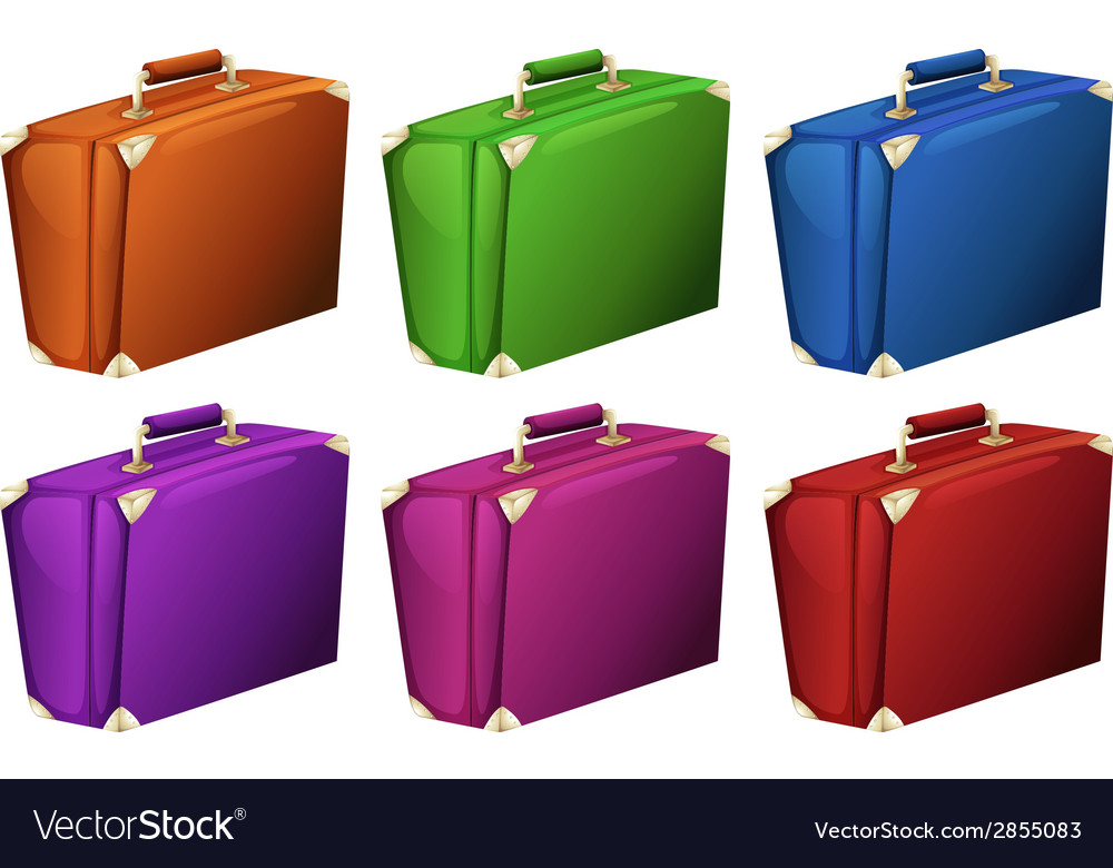 Colourful suitcases vector | Price: 1 Credit (USD $1)