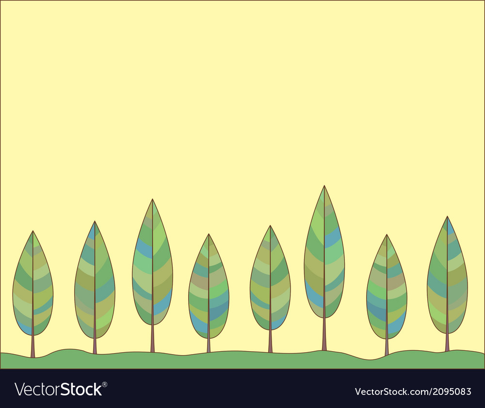 Decorative background of a stylized trees vector | Price: 1 Credit (USD $1)