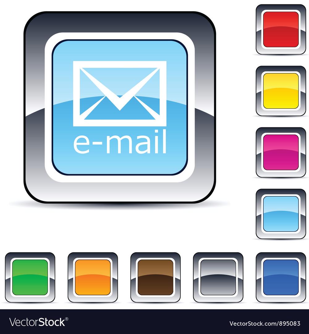 E-mail square button vector | Price: 1 Credit (USD $1)
