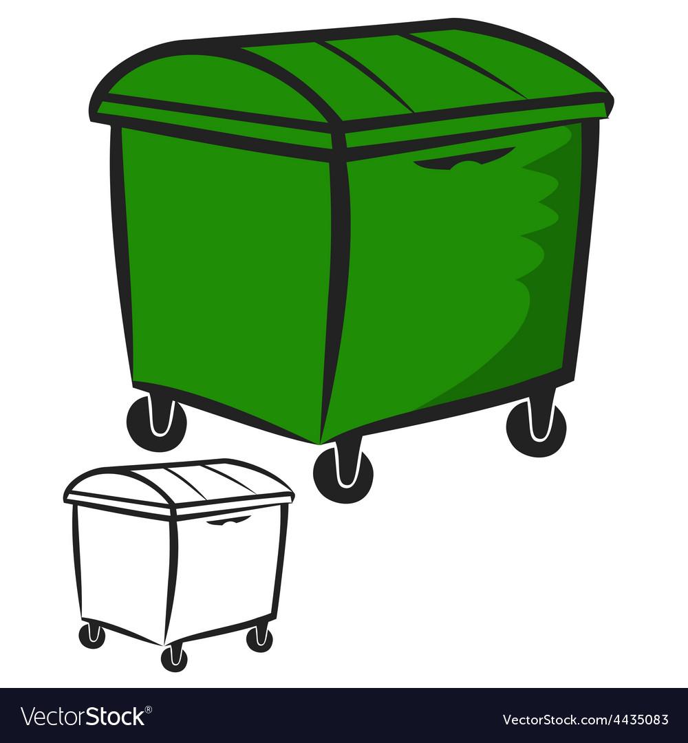 Garbage bin vector | Price: 1 Credit (USD $1)