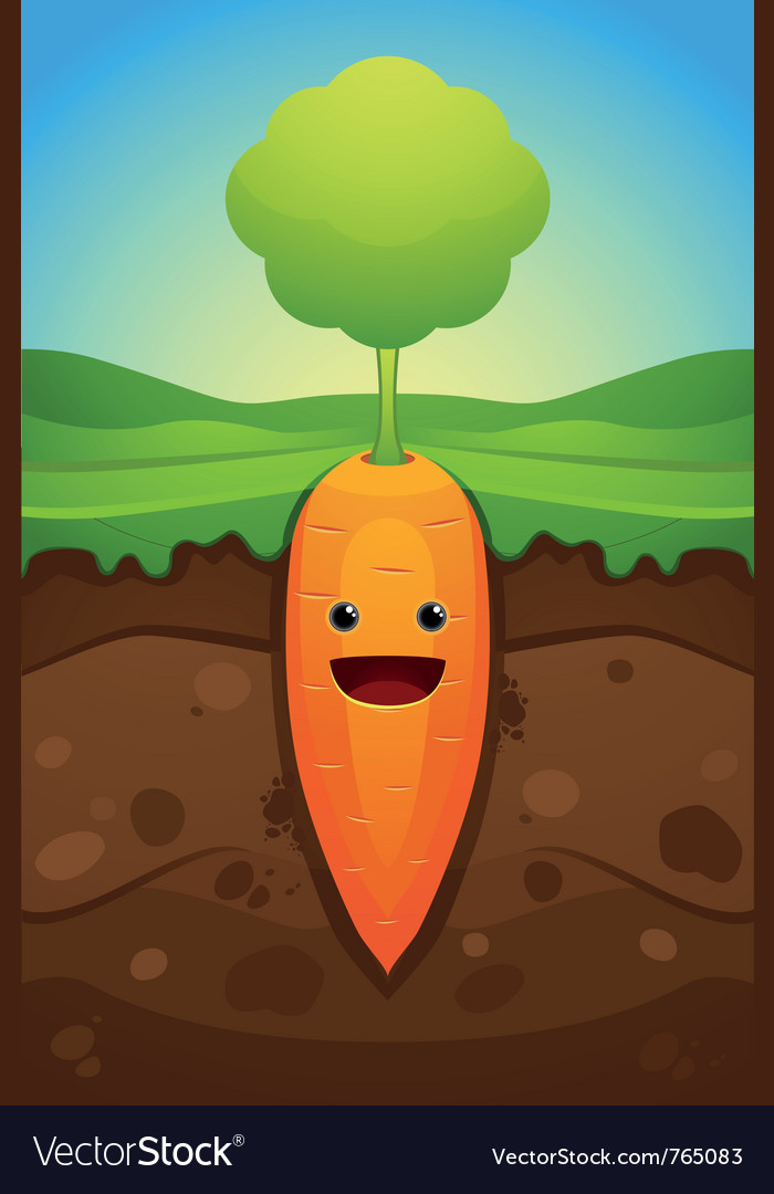 Happy carrot vector | Price: 3 Credit (USD $3)