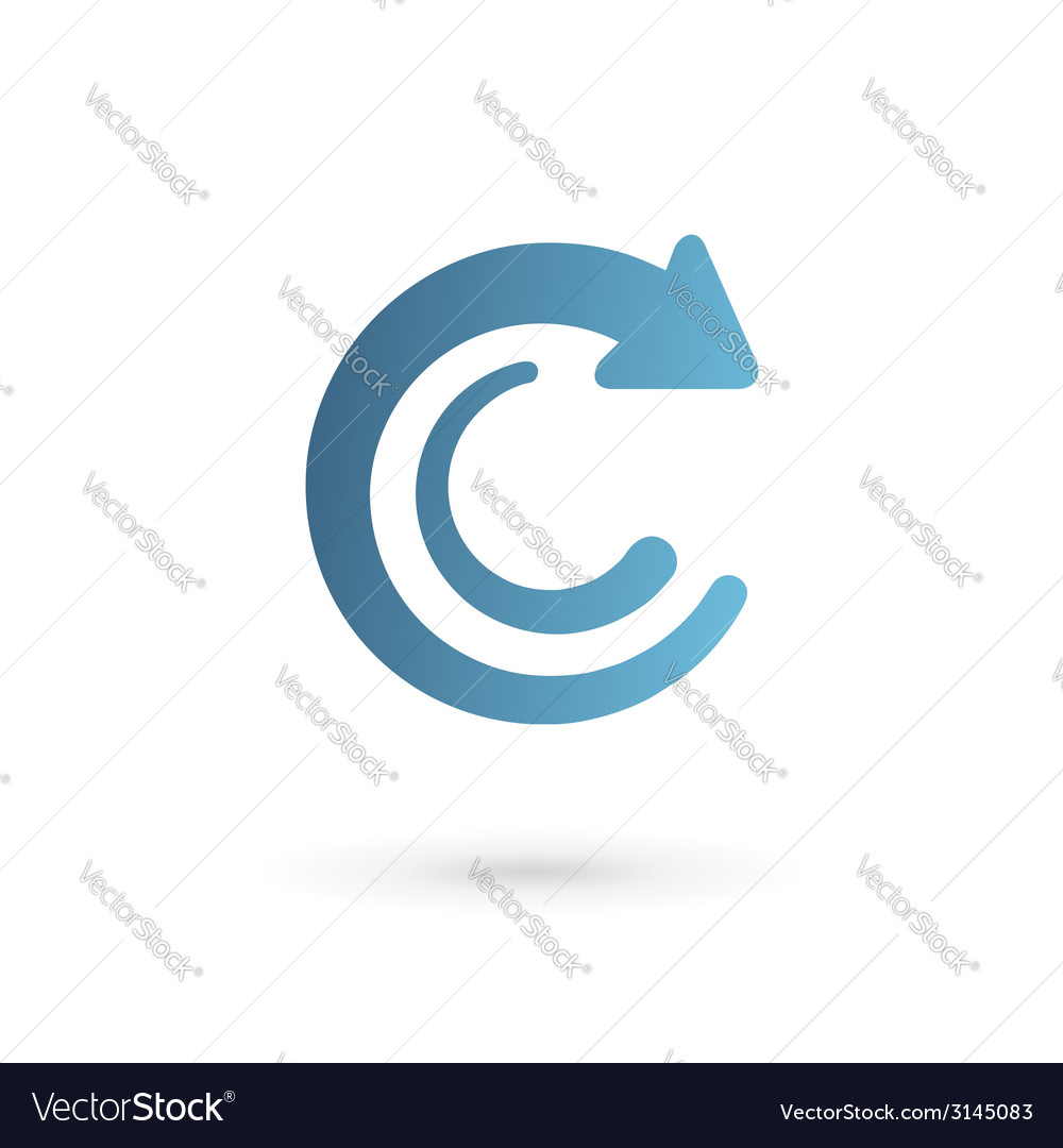 Letter c arrow logo icon design template elements vector | Price: 1 Credit (USD $1)