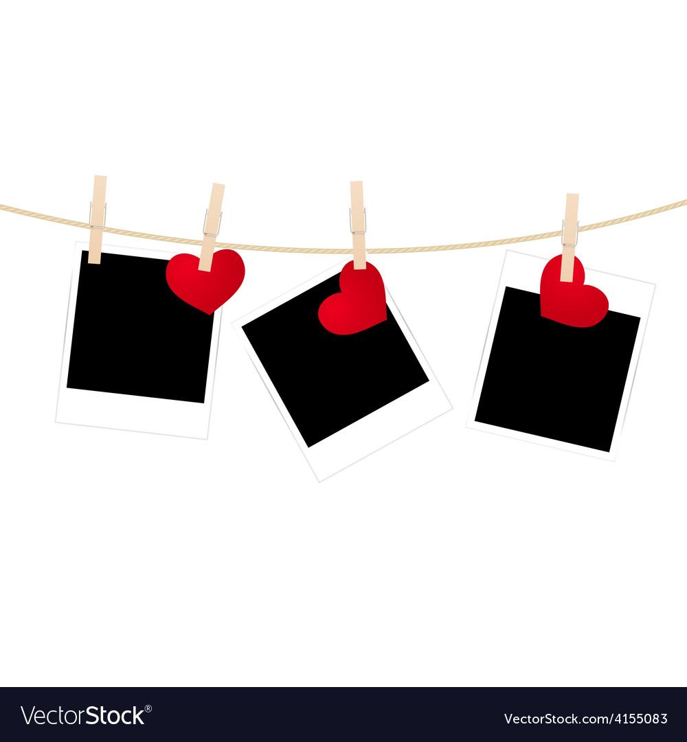 Photos clothespins hearts vector | Price: 1 Credit (USD $1)