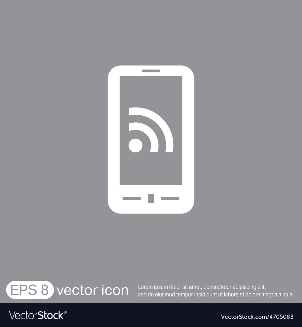 Smartphone with the symbol rss vector | Price: 1 Credit (USD $1)