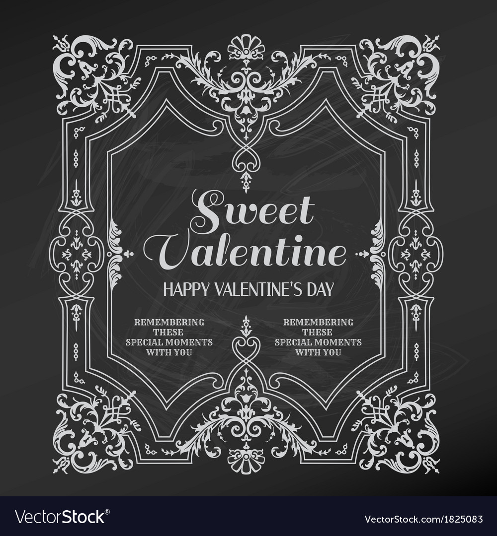 Vintage valentines day card design vector | Price: 1 Credit (USD $1)