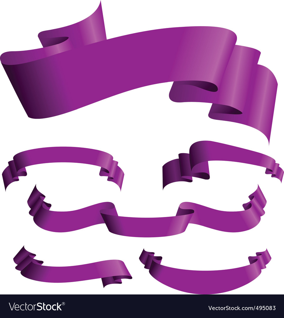 Violet banners vector | Price: 1 Credit (USD $1)